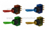 Toggle switch with illumination (Available colours :- red, green, amber, blue)